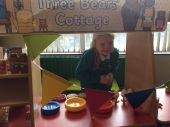 Doesn't Annaliese make a wonderful Goldilocks in our role play area!