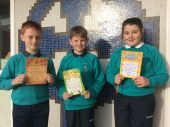 October Class Award Winners from Mr O' Hare's P7 class