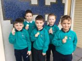 Winning team from Mrs Smith's P4 class