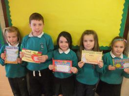 Primary Three Monthly Award Winners for April