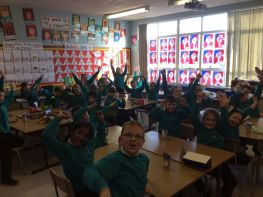 Celebrations in Mrs Duffy's Class as everyone reached their Accelerated Reading Target