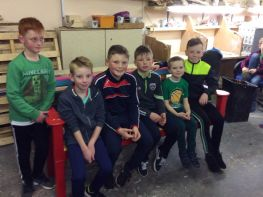 The School Council visit 'Armagh Man's Shed'