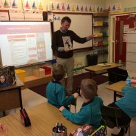 Author Declan Carville visits Primary Three