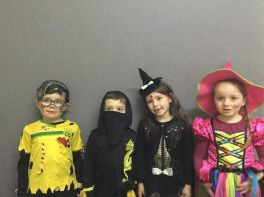 Dressing up for Halloween in Primary Three!