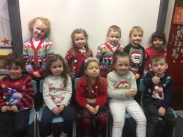 P1 Christmas dinner day means Christmas jumpers