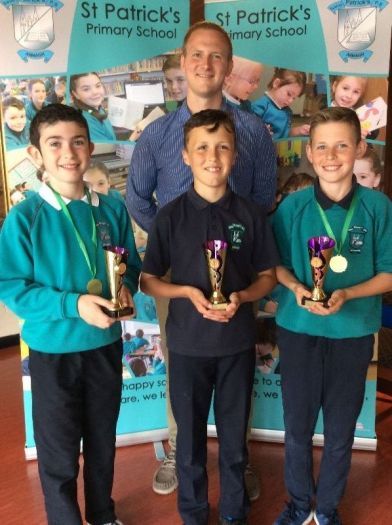 Outstanding Gaelic football awards were presented to Christopher Daly, Sean Kelly and Eoin Dynes by Mr Mc Cormick