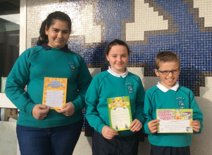 October Class Award Winners from Mrs Perry's P7 class