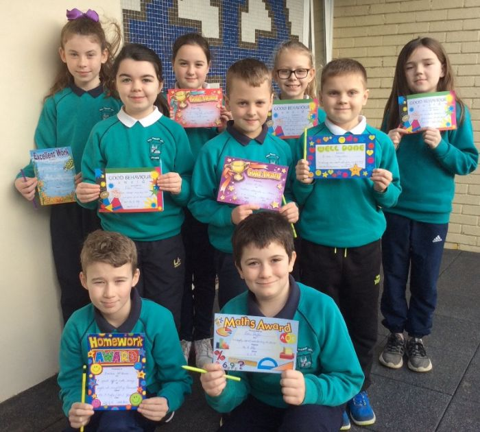 Award winners from the P6 classes