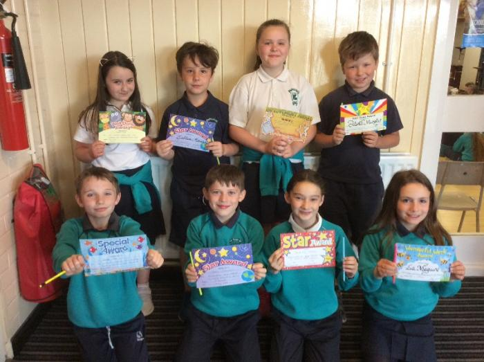 Mrs Bennett, Mr Murphy and Miss Kerr's P5 Award Winners