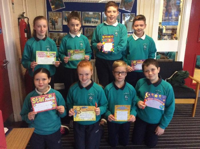 Primary Seven Award Winners for September 2018