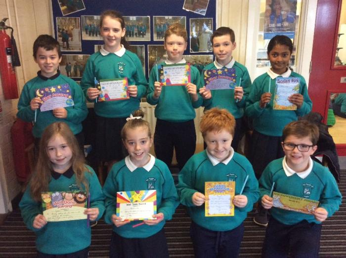 Primary Six Award Winners for September 2018