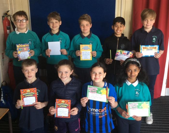 P7 Award Winners for May 2019
