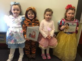 Mrs Thornton's P1 class enjoy their first World Book Day.