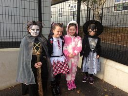 P4 dress up to celebrate Halloween