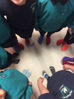 As Part of Anti bullying week, we wore odd socks to school today to celebrate that we are all different!